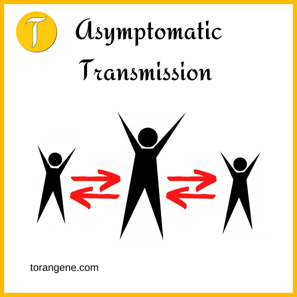 asymptomatic transmission of coronavirus