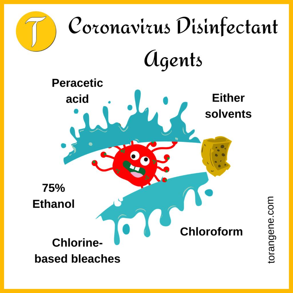 chemicals to kill coronavirus